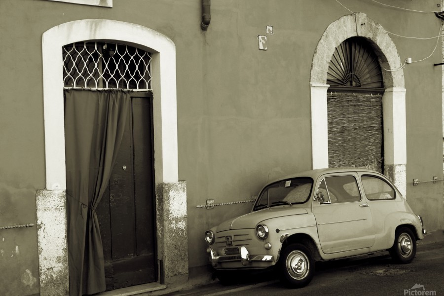Vintage Car in Black and White  Print