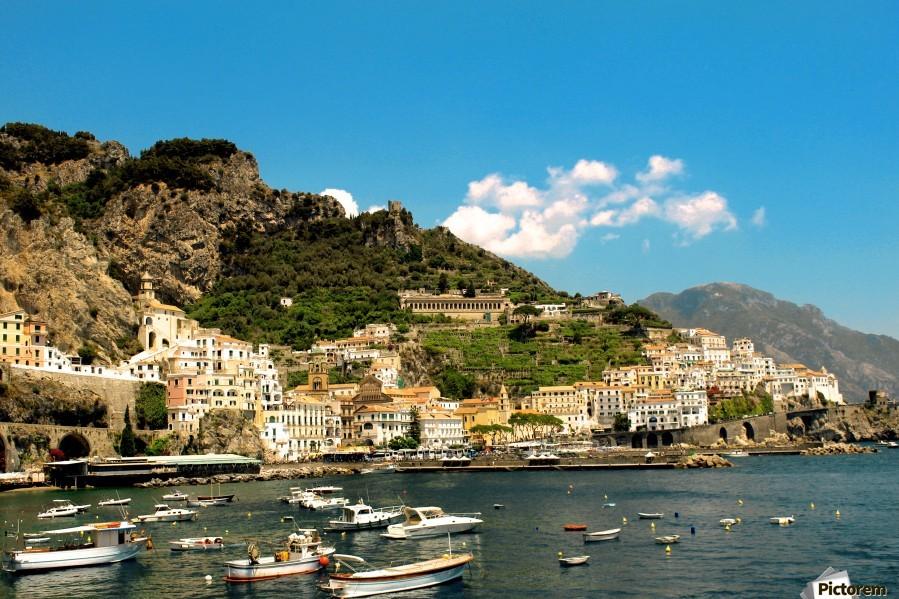 Amalfi Town - Panoramic View - Italy  Print