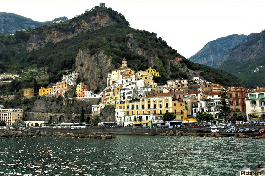 Italian Village Landscape - Amalfi  Print