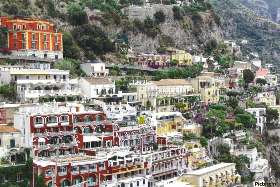 Houses at Amalfi Town - Italy  Print