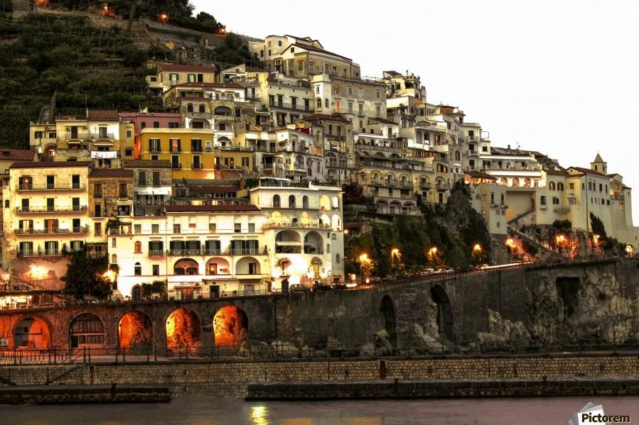 Amalfi Village  Landscape - Italy  Print