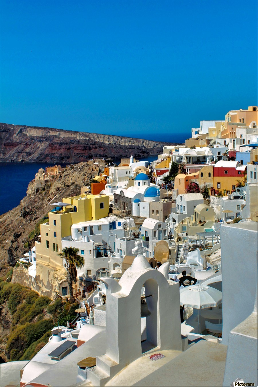 Santorini Colourful  Landscape - Greece  Print