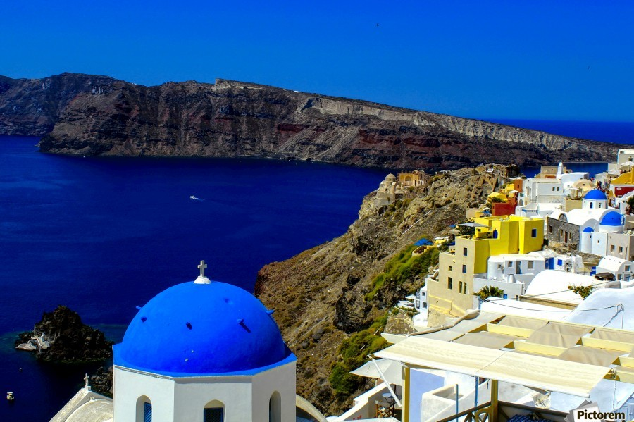 Santorini  - Super Colorful Landscape  Print