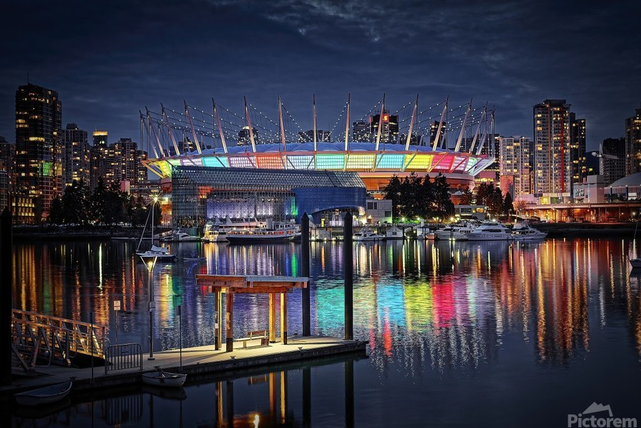 Colorful BC Place  Print