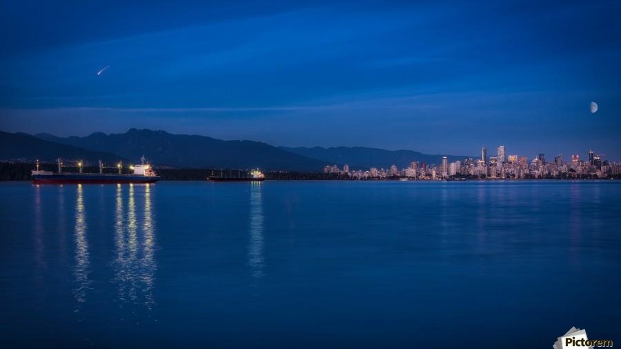 Shooting Star over Vancouver  Print