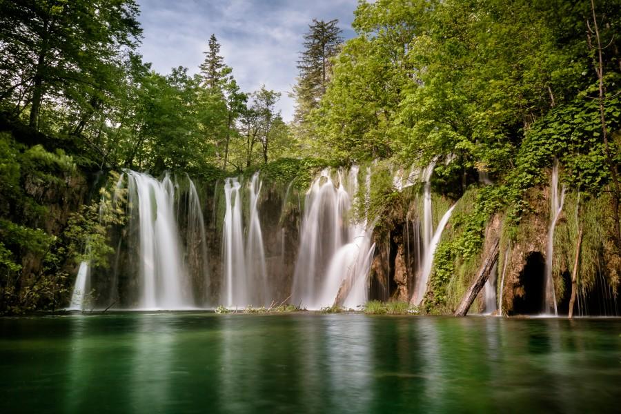 Idyllic Waterfall at Plitvice Lakes  Print