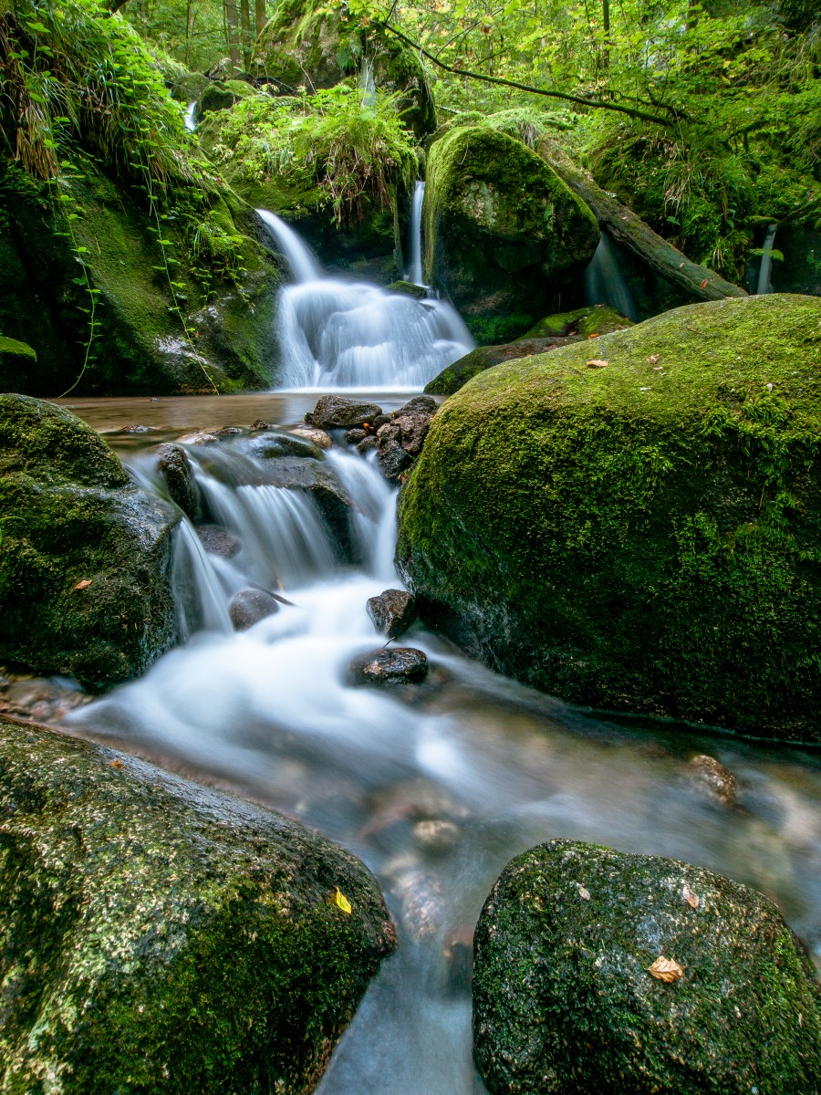 Small Waterfall in the German Black Forest  Print