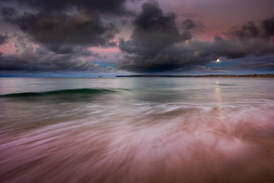 Carbis Bay moonlight  Print
