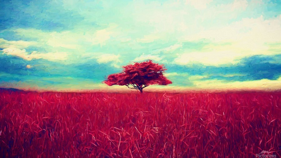 Red Tree  Print