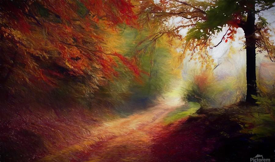 Autumnal Landscape 5  Print