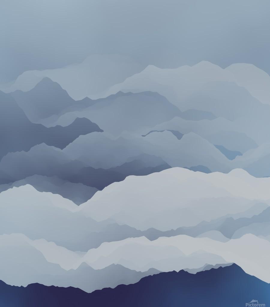 Beautiful Mountains  Print