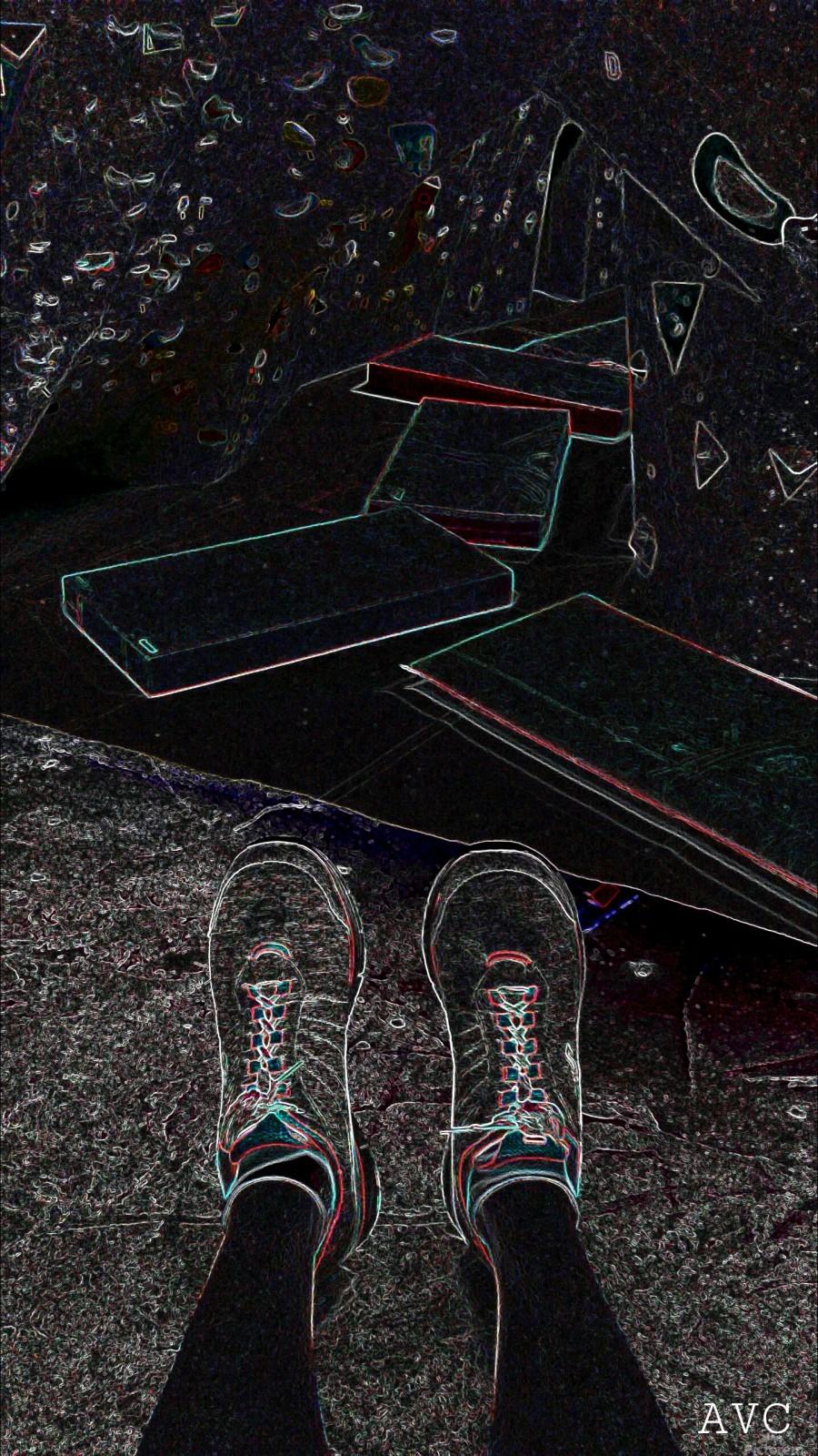 Rock Climbing Feets  Print