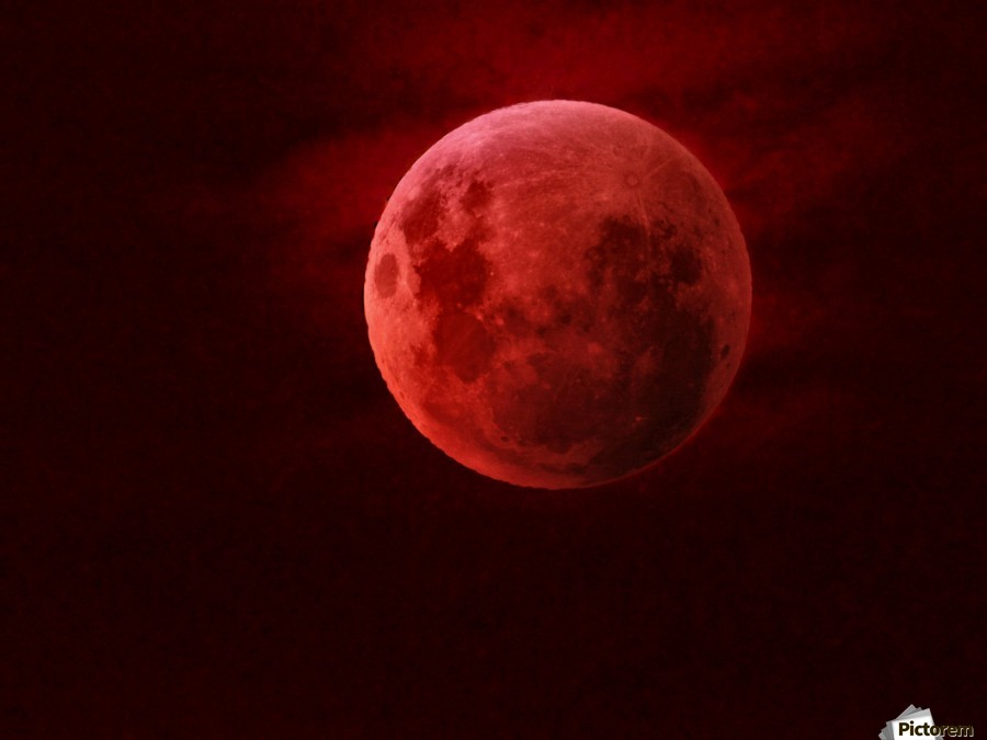 One Red Moon  Imprimer