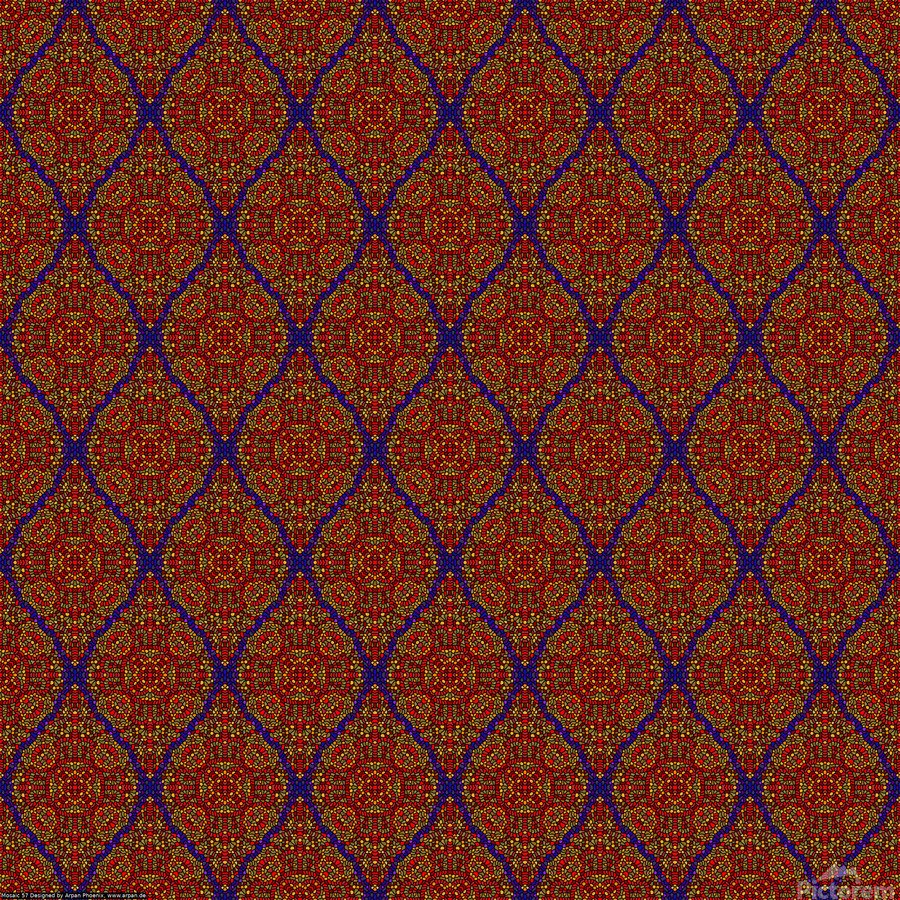Mosaic 57  Print