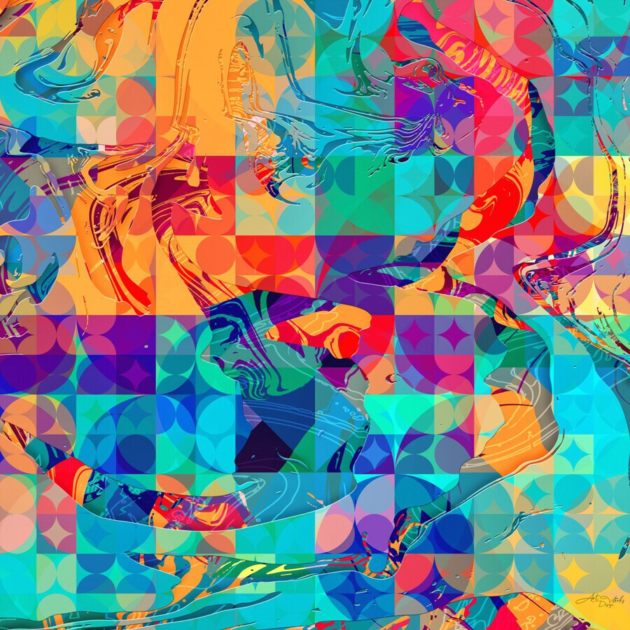 Geometric X  Print