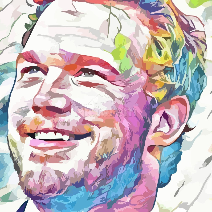 Chris Pratt - Celebrity Abstract Art  Print