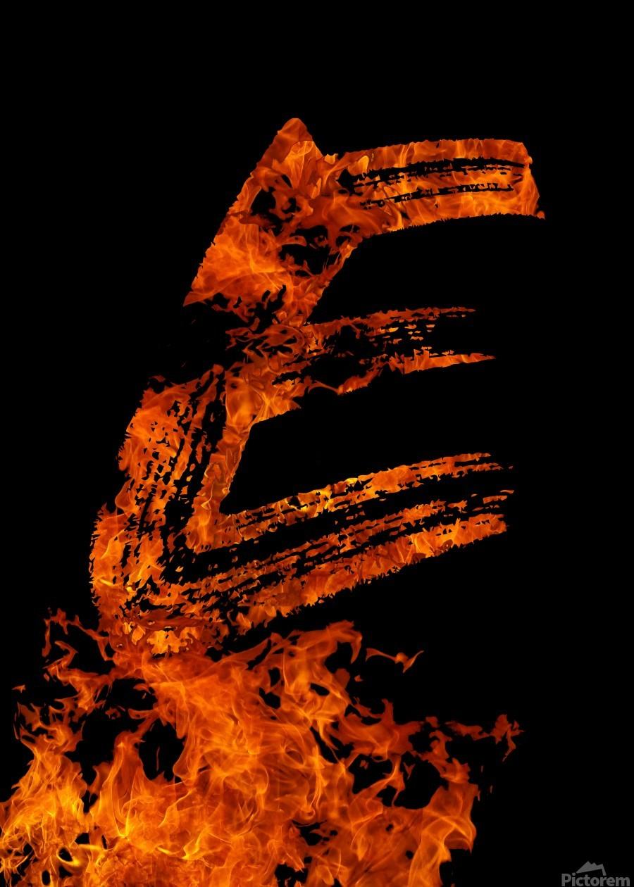 Burning on Fire Letter E  Print