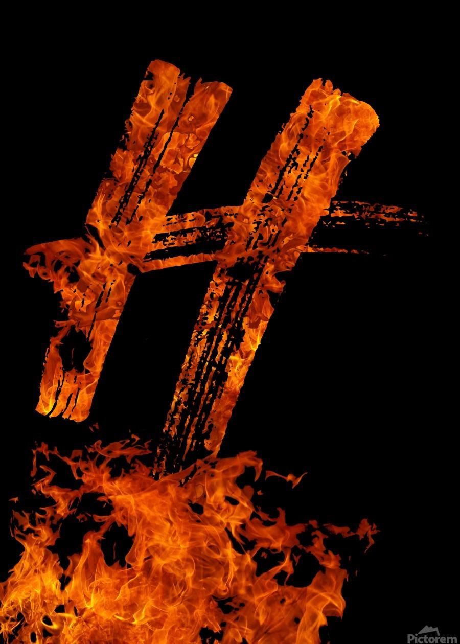 Burning on Fire Letter H  Print