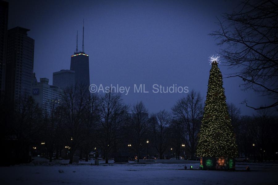 Chicago Christmas  Print