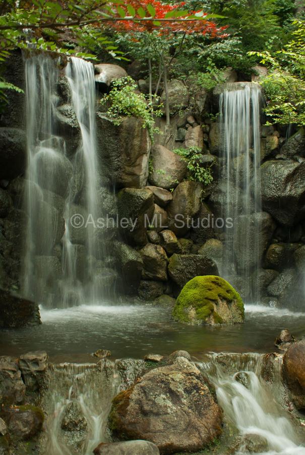 Japanese Waterfalls  Print