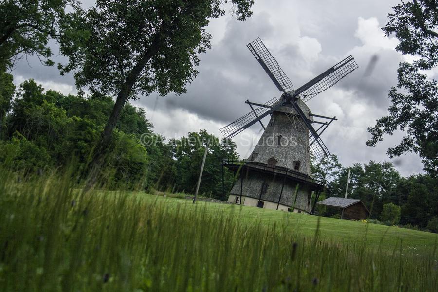 Windmill in a Storm  Print