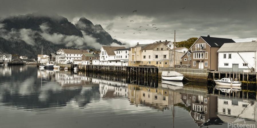 Fishing village, Lofoten, Norway  Print