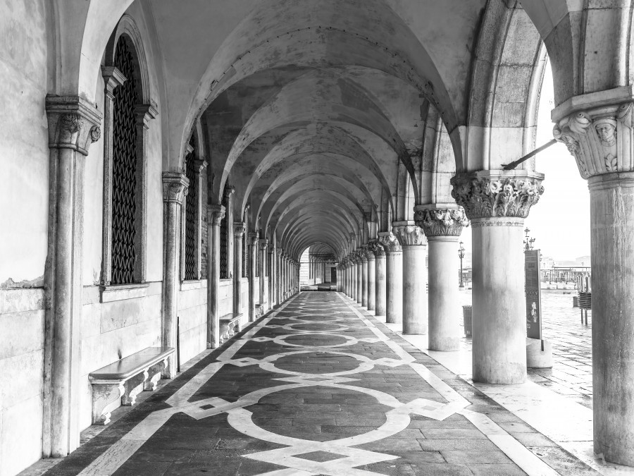 Doge's Palace archway in Venice, Italy  Print