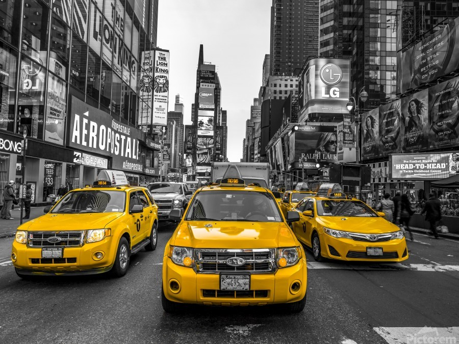Taxi on broadway, New York  Print