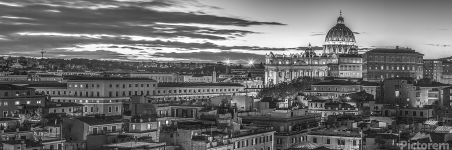 Vatican city with St. Peters Basilica, Rome, Italy  Print