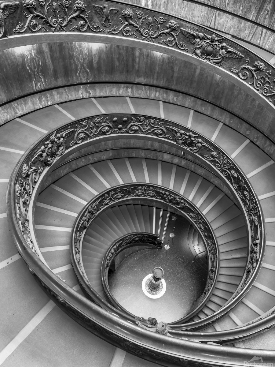 Spiral staircase at the Vatican museum, Rome, Italy  Print