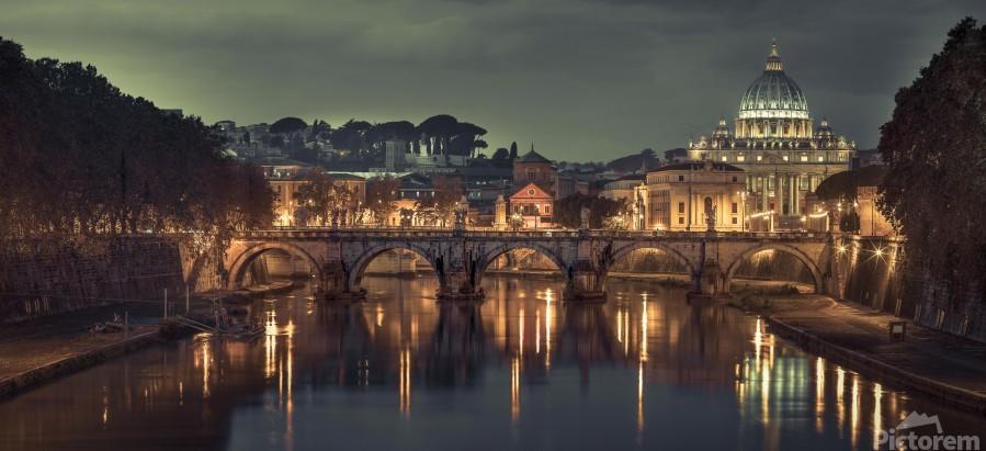View of Basilica di San Pietro in Vatican, Rome, Italy  Print