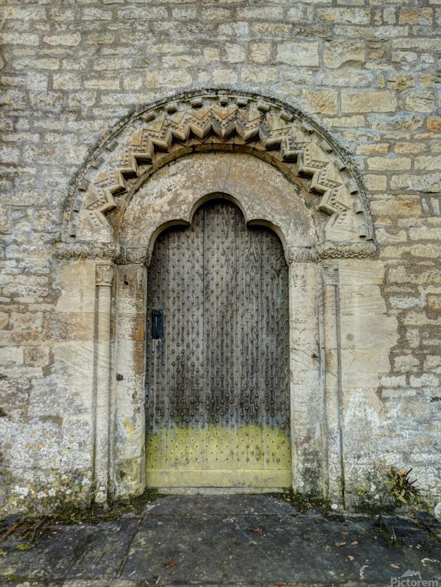 Front door of old cottage in Bibury,  Cotswold, UK  Print