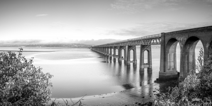 Tay Rail Bridge, Dundee, Scotland  Print