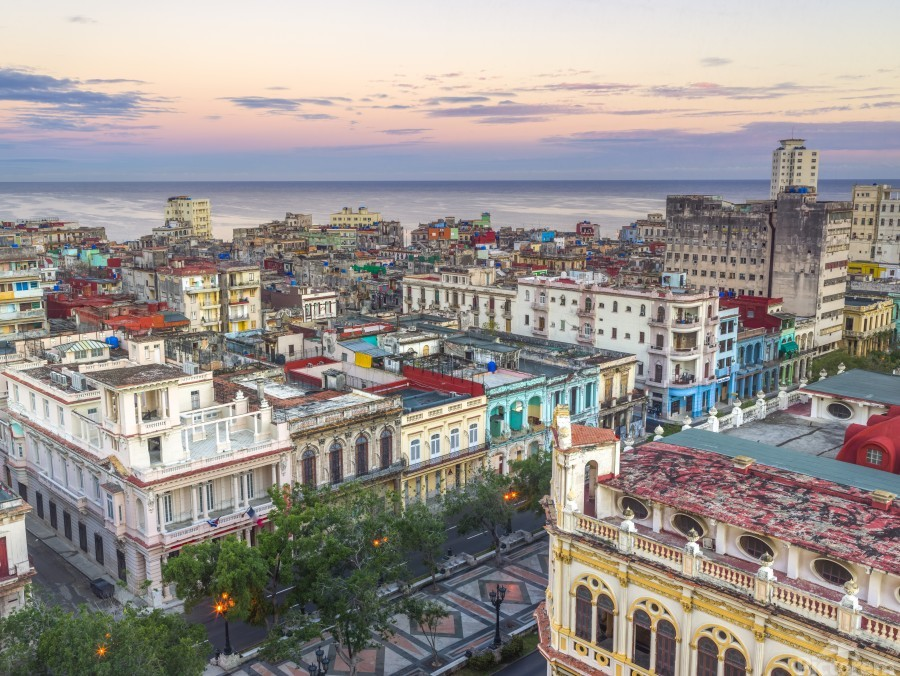 Havana from above  Print