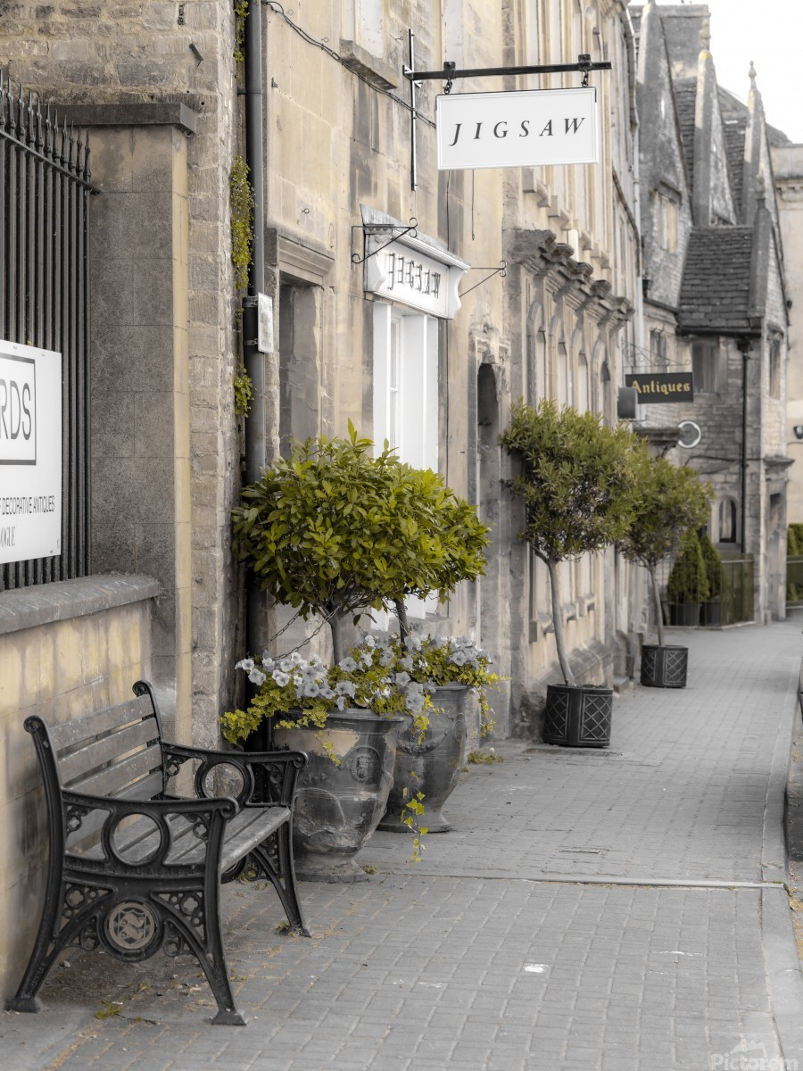 Old buildings in Tetbury town, Cotswolds  Print