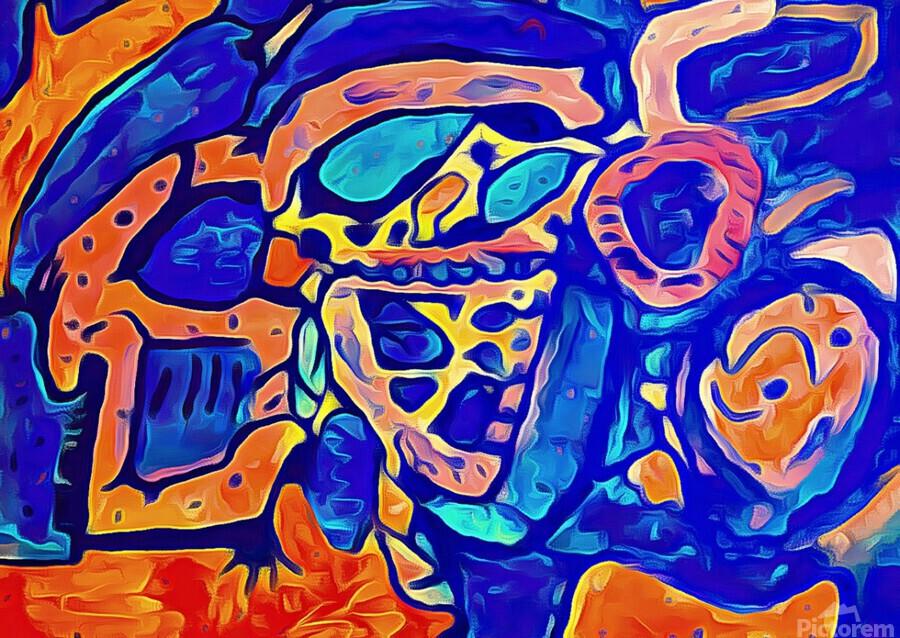 Blue Orange Clash  Print
