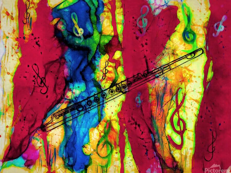 Flute Electrified  Print