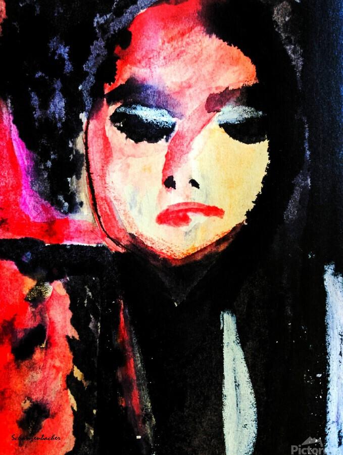 Lady in Black  Print