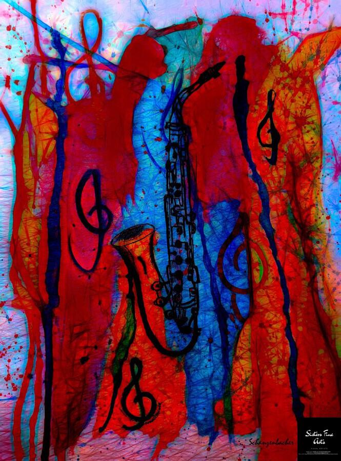 Saxophone Electrified  Print