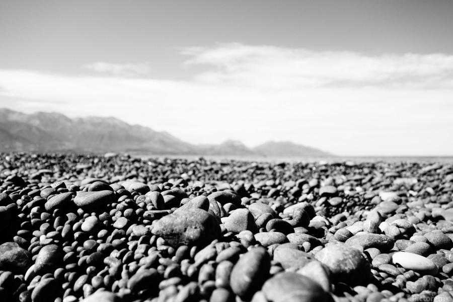 Pebbles on beach  Print