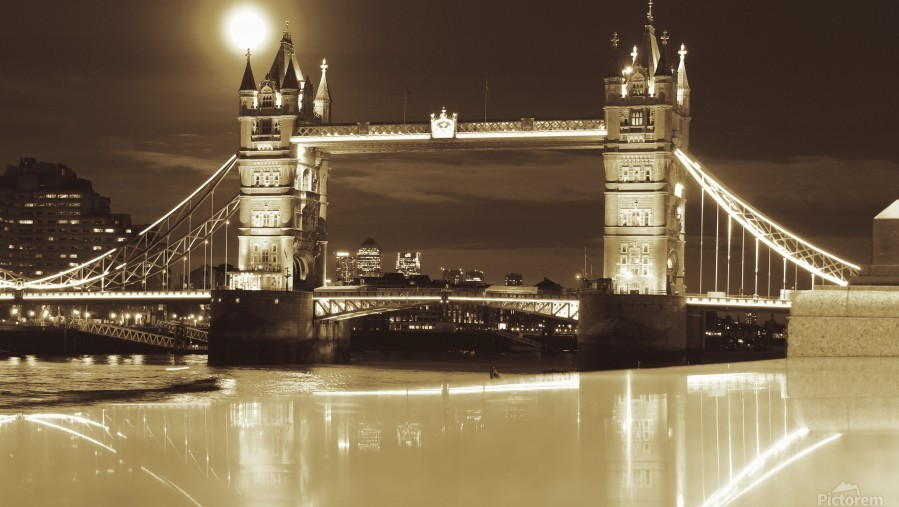 Vintage Tower Bridge - london   Print