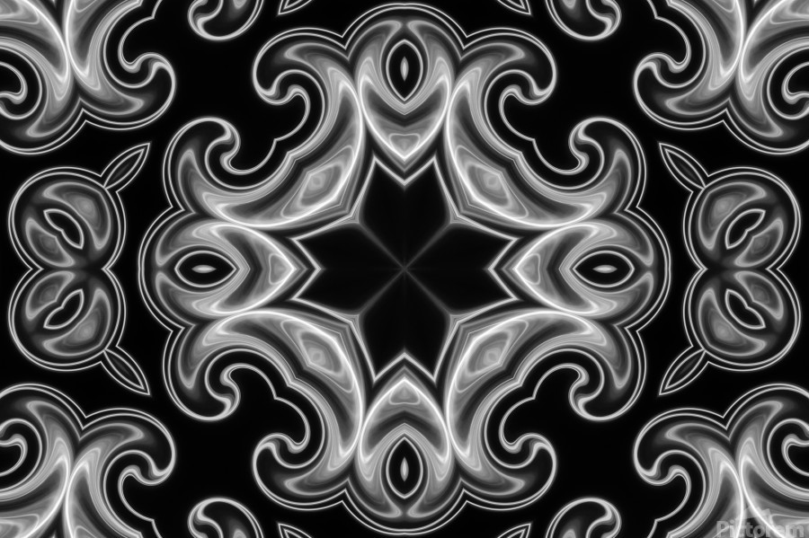 Classic Fractal in black and white  Print