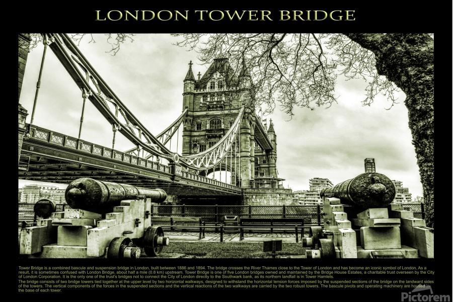 Vintage London Tower Bridge  Print