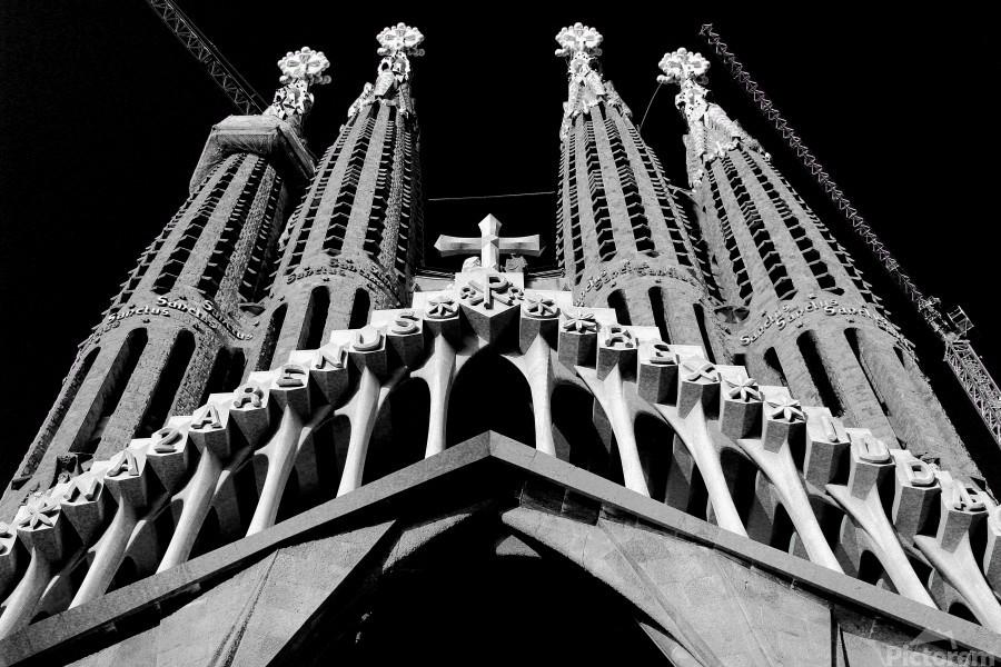 the Cathedral - La Sagrada Familia  Imprimer