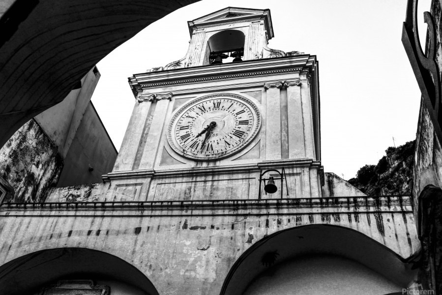 The Church - Ancient Tower Clock  Print
