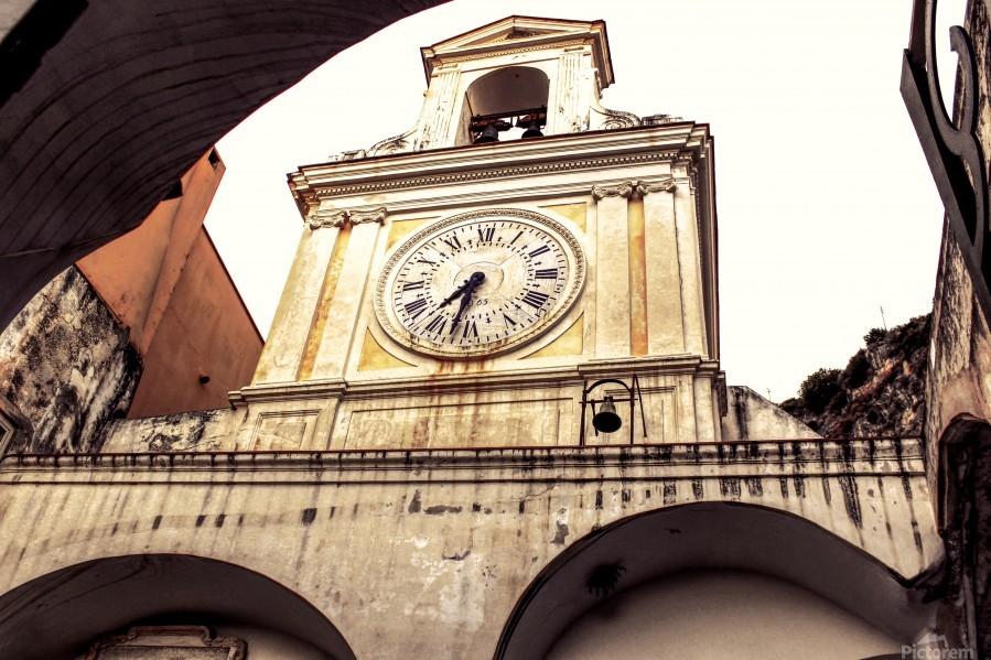 The Church  - Tower Clock  Print