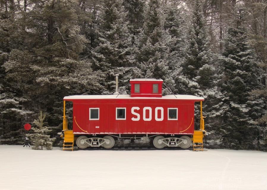 Soo Caboose in Fresh Snow  Print