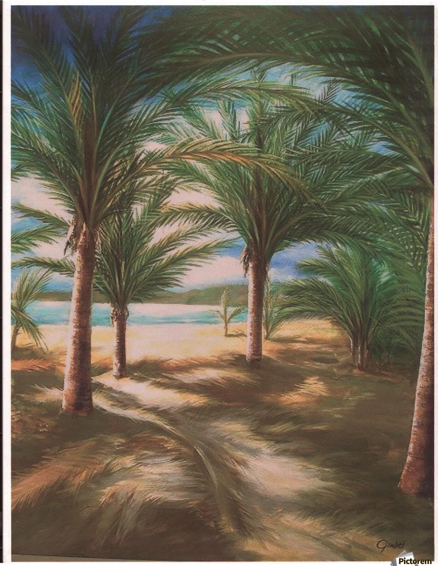 Shady beach  Print