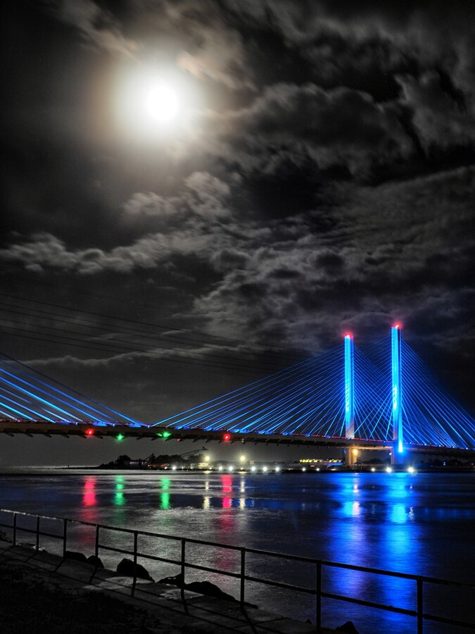 Blood Moon over the Indian River Bridge  Print