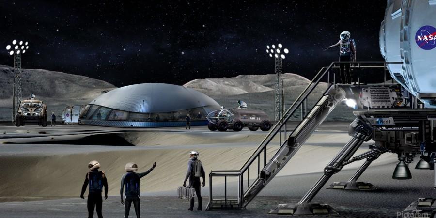 Moon Base 2  Print